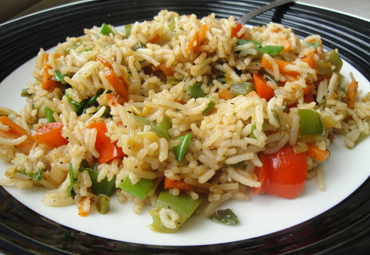 Onion Chilly Fried Rice